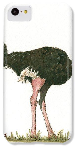 Ostrich Bird IPhone 5c Case by Juan Bosco