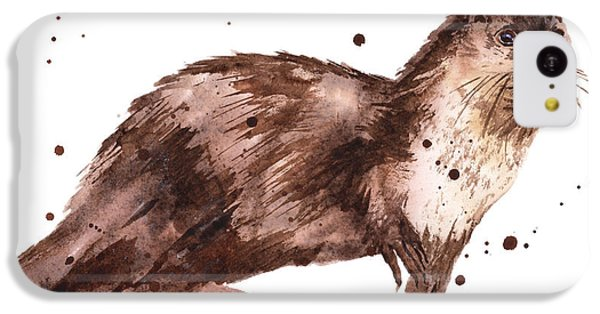 Otter Painting IPhone 5c Case by Alison Fennell