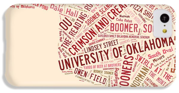 Ou Word Art University Of Oklahoma IPhone 5c Case by Roberta Peake