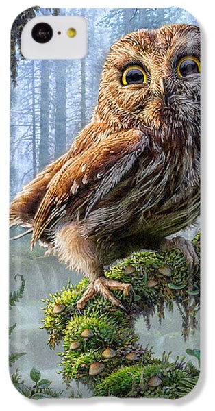 Owl Perch IPhone 5c Case by Phil Jaeger