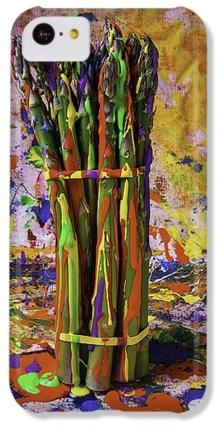 Painted Asparagus IPhone 5c Case by Garry Gay