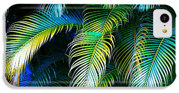Palm Leaves In Blue IPhone 5c Case by Karon Melillo DeVega