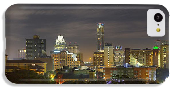 Panorama Of The Austin Skyline On A September Morning IPhone 5c Case by Rob Greebon