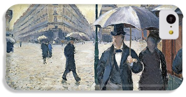 Paris A Rainy Day IPhone 5c Case by Gustave Caillebotte