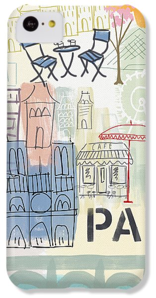 Paris Cityscape- Art By Linda Woods IPhone 5c Case by Linda Woods