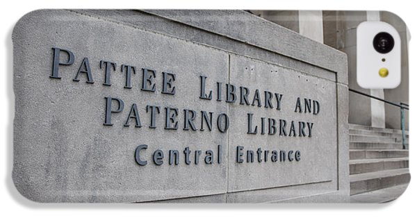 Paterno Library At Penn State  IPhone 5c Case by John McGraw