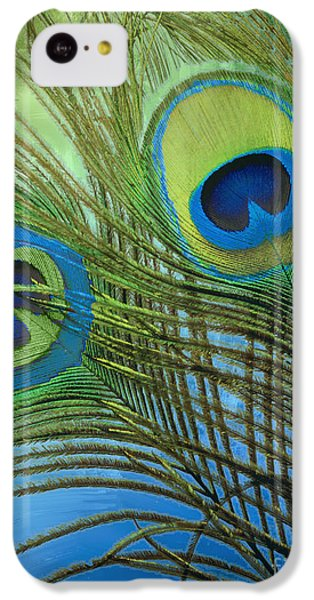 Peacock Candy Blue And Green IPhone 5c Case by Mindy Sommers
