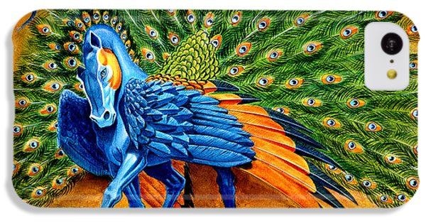 Peacock Pegasus IPhone 5c Case by Melissa A Benson