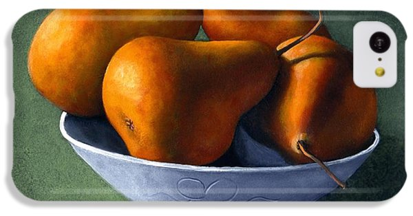 Pears In Blue Bowl IPhone 5c Case by Frank Wilson
