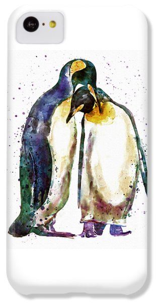 Penguin Couple IPhone 5c Case by Marian Voicu