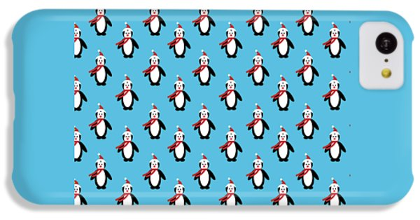 Penguin Pattern With Changeable Background IPhone 5c Case by Sebastien Coell