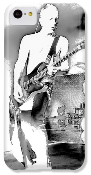 Phil Collen Of Def Leppard IPhone 5c Case by David Patterson