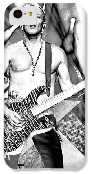 Phil Collen With Def Leppard IPhone 5c Case by David Patterson