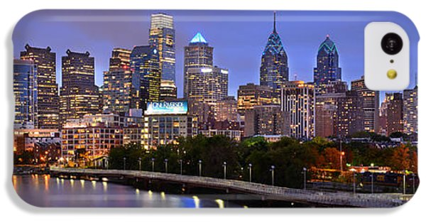 Philadelphia Philly Skyline At Dusk From Near South Color Panorama IPhone 5c Case by Jon Holiday