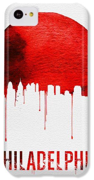 Philadelphia Skyline Redskyline Red IPhone 5c Case by Naxart Studio