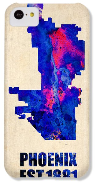 Phoenix Watercolor Map IPhone 5c Case by Naxart Studio