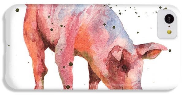 Pig Painting IPhone 5c Case by Alison Fennell
