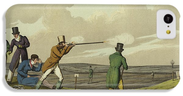 Pigeon Shooting IPhone 5c Case by Henry Thomas Alken
