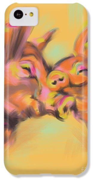 Piggy Love IPhone 5c Case by Go Van Kampen