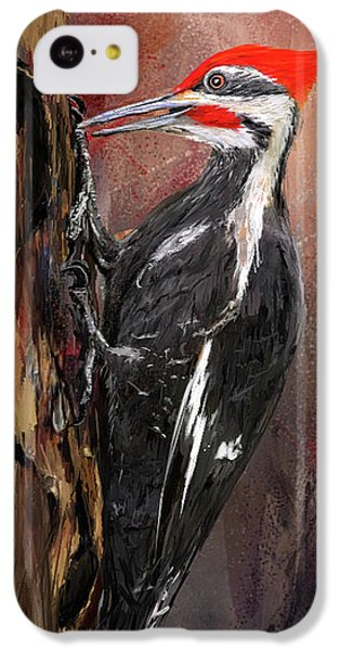 Pileated Woodpecker Art IPhone 5c Case by Lourry Legarde