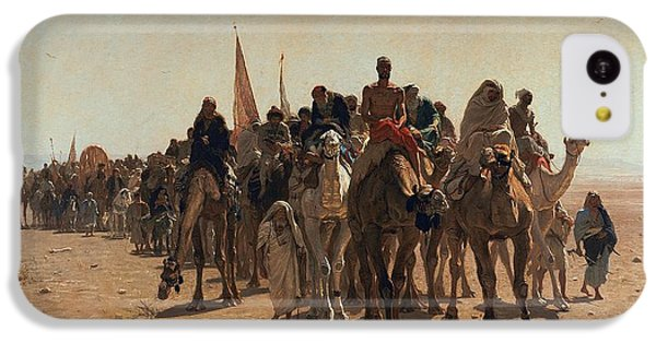 Pilgrims Going To Mecca IPhone 5c Case by Leon Auguste Adolphe Belly