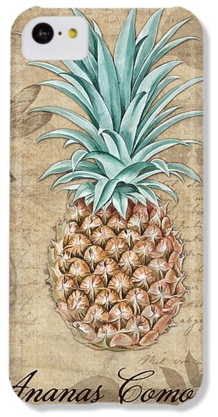 Pineapple, Ananas Comosus Vintage Botanicals Collection IPhone 5c Case by Tina Lavoie