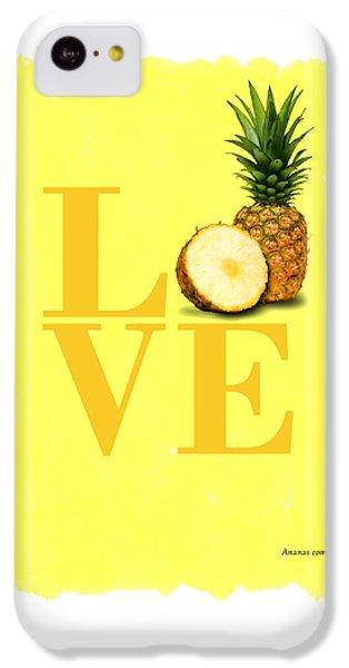 Pineapple IPhone 5c Case by Mark Rogan