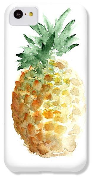 Pineapple Watercolor Minimalist Painting IPhone 5c Case by Joanna Szmerdt