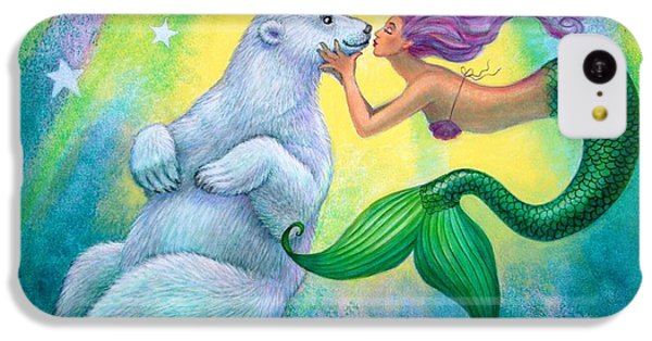 Polar Bear Kiss IPhone 5c Case by Sue Halstenberg