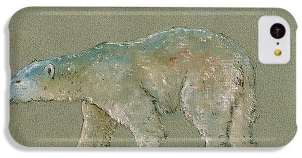 Polar Bear Original Watercolor Painting Art IPhone 5c Case by Juan  Bosco