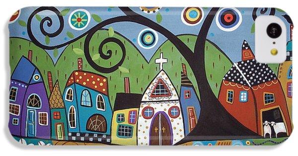 Polkadot Church IPhone 5c Case by Karla Gerard