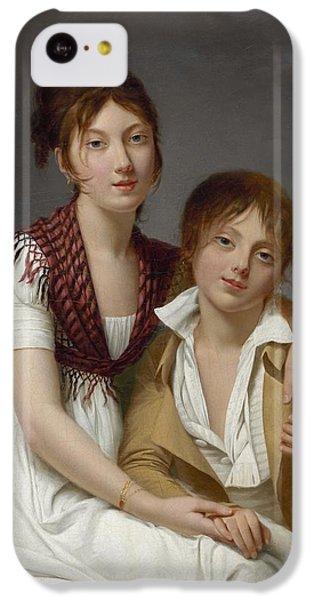Portrait D'amelie-justine Et De Charles-edouard Pontois IPhone 5c Case by Celestial Images