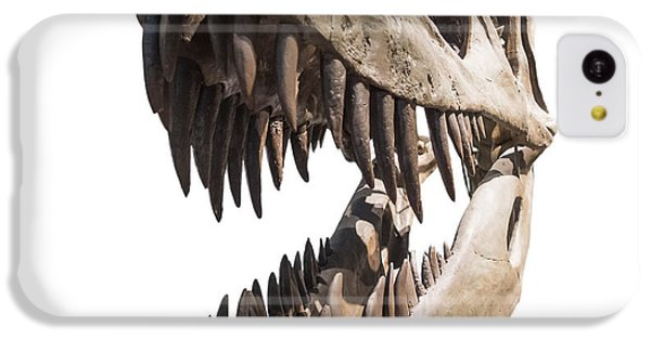 Portrait Of A Dinosaur Skeleton, Isolated On Pure White. IPhone 5c Case by Caio Caldas