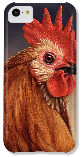 Portrait Of A Rooster IPhone 5c Case by James W Johnson