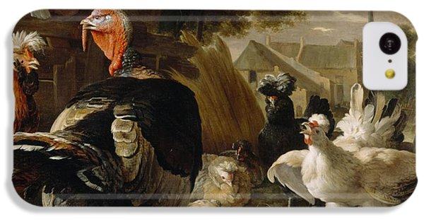 Poultry Yard IPhone 5c Case by Melchior de Hondecoeter