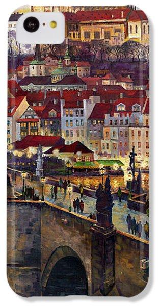 Prague Charles Bridge With The Prague Castle IPhone 5c Case by Yuriy  Shevchuk