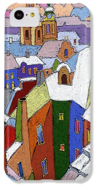 Prague Old Roofs Winter IPhone 5c Case by Yuriy  Shevchuk