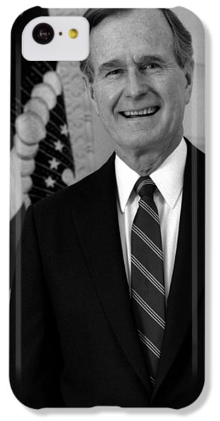 President George Bush Sr IPhone 5c Case by War Is Hell Store