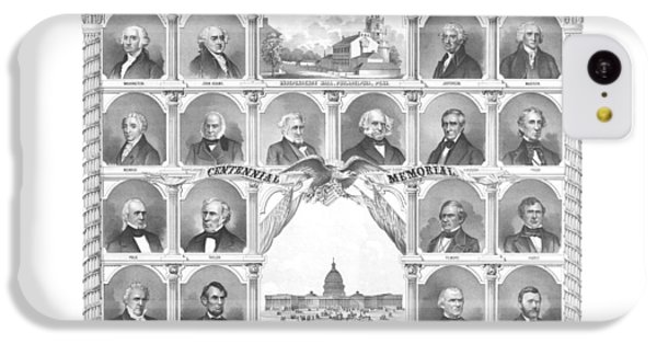 Presidents Of The United States 1776-1876 IPhone 5c Case by War Is Hell Store