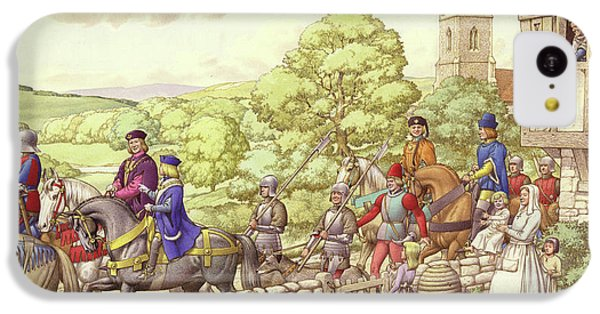 Prince Edward Riding From Ludlow To London IPhone 5c Case by Pat Nicolle