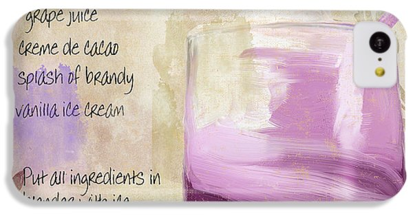 Purple Cow Mixed Cocktail Recipe Sign IPhone 5c Case by Mindy Sommers