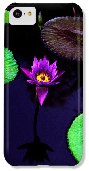 Purple Lily IPhone 5c Case by Gary Dean Mercer Clark