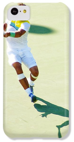 Rafael Nadal Shadow Play IPhone 5c Case by Steven Sparks