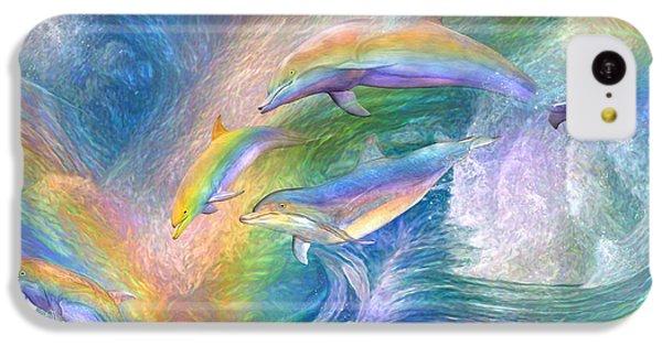 Rainbow Dolphins IPhone 5c Case by Carol Cavalaris