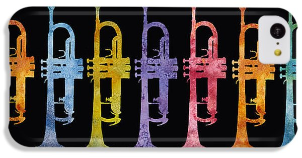 Rainbow Of Trumpets IPhone 5c Case by Jenny Armitage