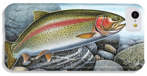 Rainbow Trout Stream IPhone 5c Case by JQ Licensing