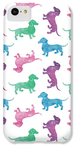 Raining Dachshunds IPhone 5c Case by Antique Images