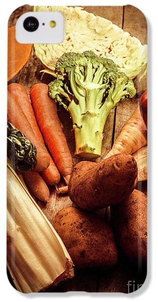 Raw Vegetables On Wooden Background IPhone 5c Case by Jorgo Photography - Wall Art Gallery