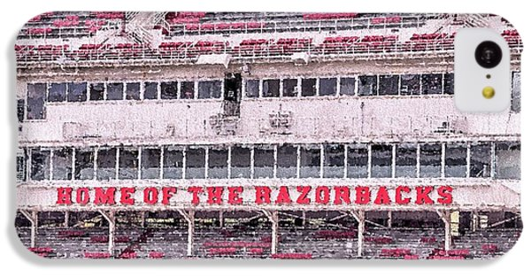 Razorback Stadium IPhone 5c Case by JC Findley