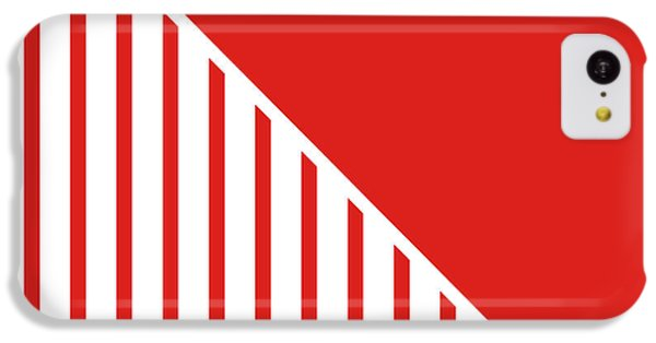 Red And White Triangles IPhone 5c Case by Linda Woods